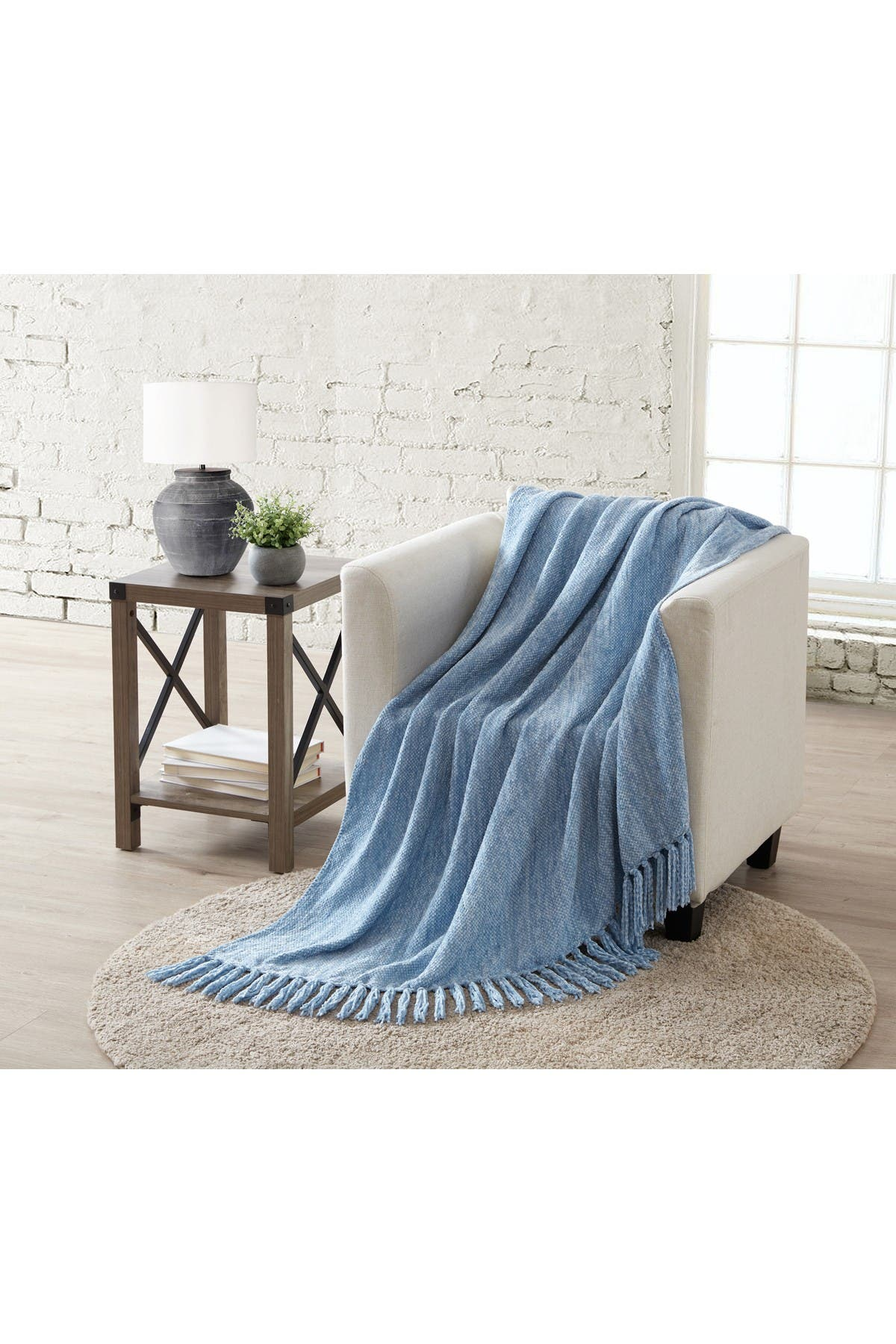 """Image of VCNY HOME Tahari James 50"""" X 60"""" Chenille Throw - Twin"""