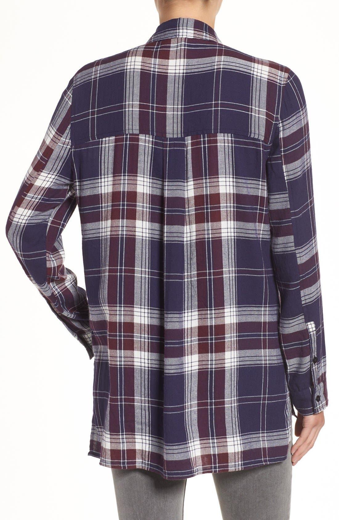 ,                             Plaid Tunic Shirt,                             Alternate thumbnail 30, color,                             421