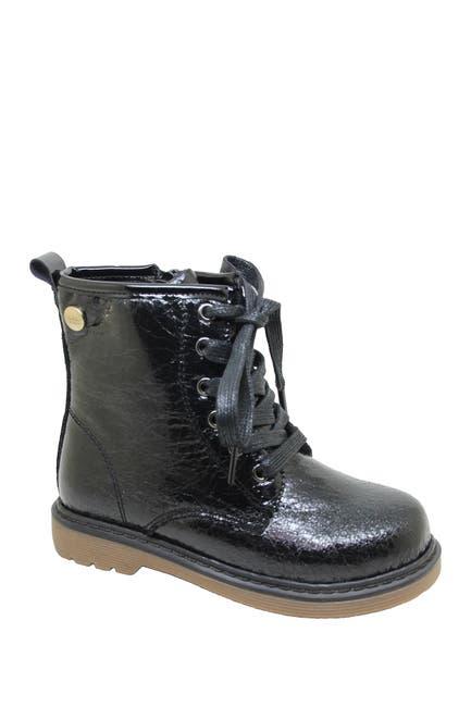Image of Nicole Miller Metallic Lace-Up Boot