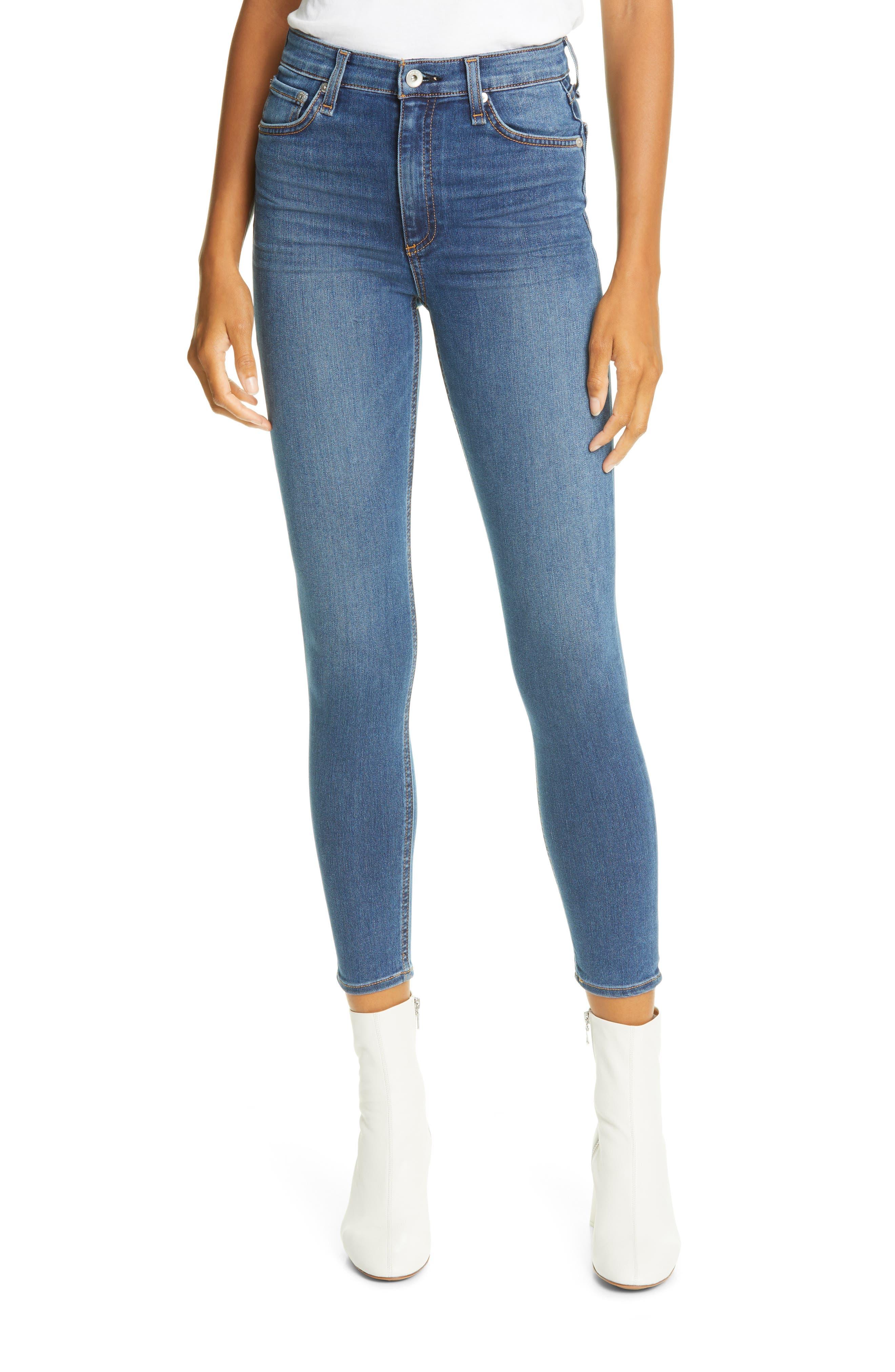 Rag & bone Nina High Waist Ankle Skinny Jeans (Camden) | Nordstrom