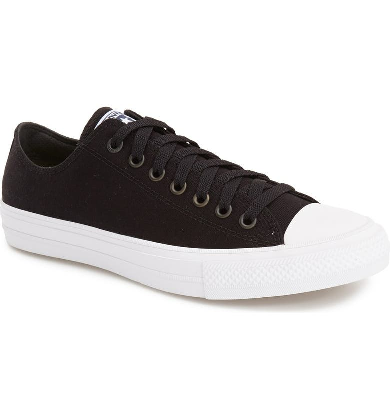 CONVERSE Chuck Taylor<sup>®</sup> All Star<sup>®</sup> II 'Ox' Canvas Sneaker, Main, color, 001