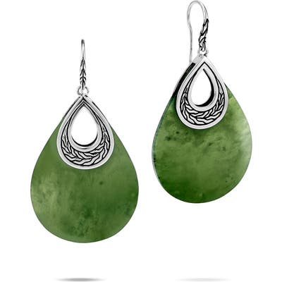 John Hardy Classic Chain Semiprecious Stone Drop Earrings