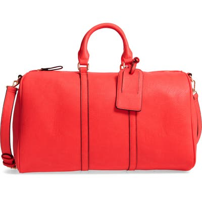 Sole Society Cassidy Faux Leather Duffle Bag - Pink