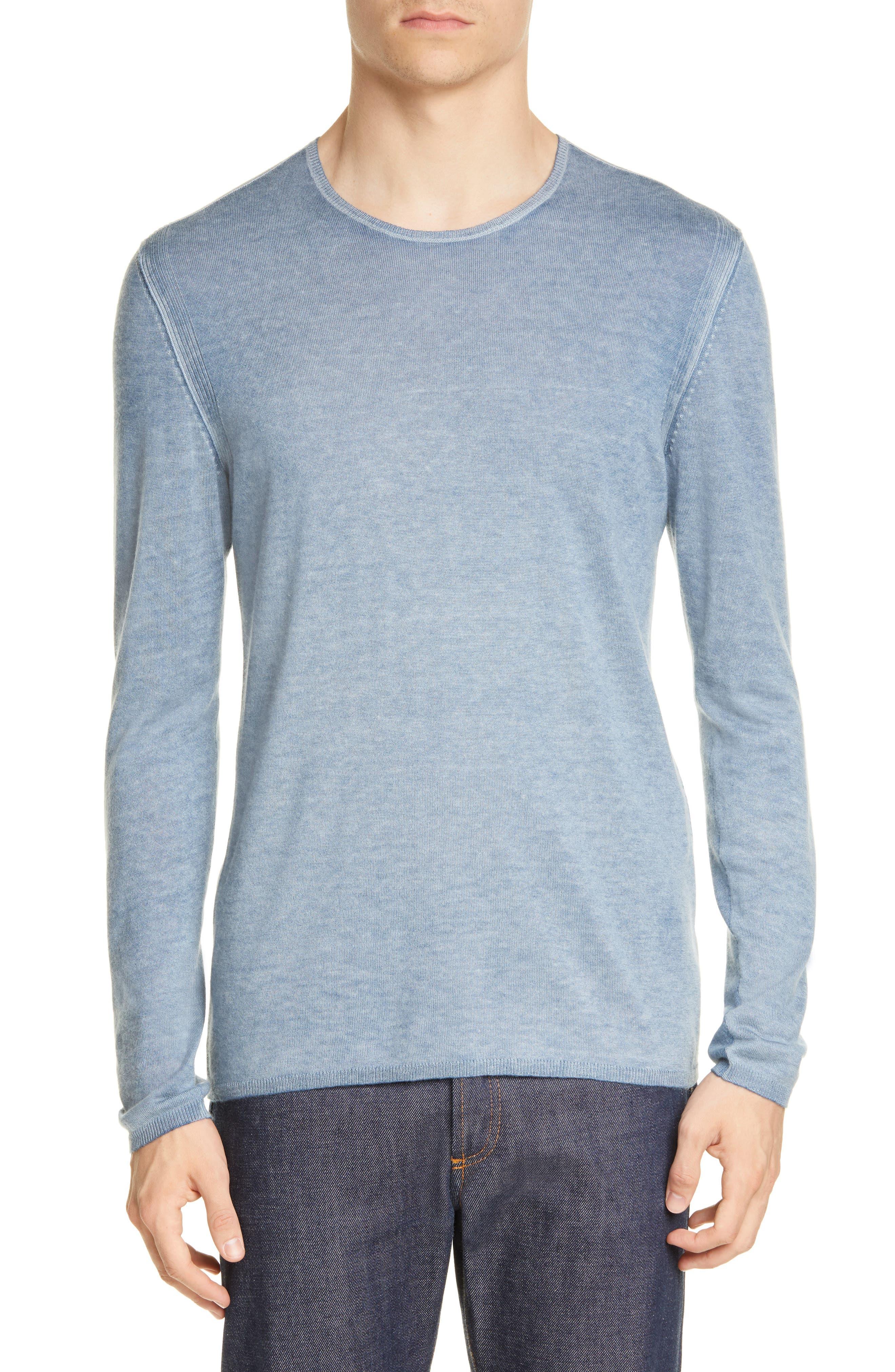John Varvatos Sweaters Silk & Cashmere Crewneck Sweater