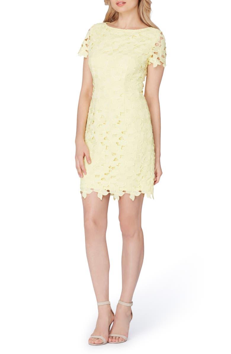 TAHARI Lace Sheath Dress, Main, color, 799