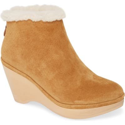 Gentle Souls By Kenneth Cole Skylar Genuine Shearling Cuff Bootie- Beige
