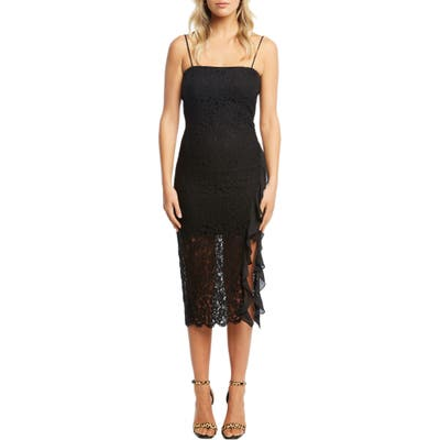 Bardot Priscilla Lace Body-Con Dress, Black