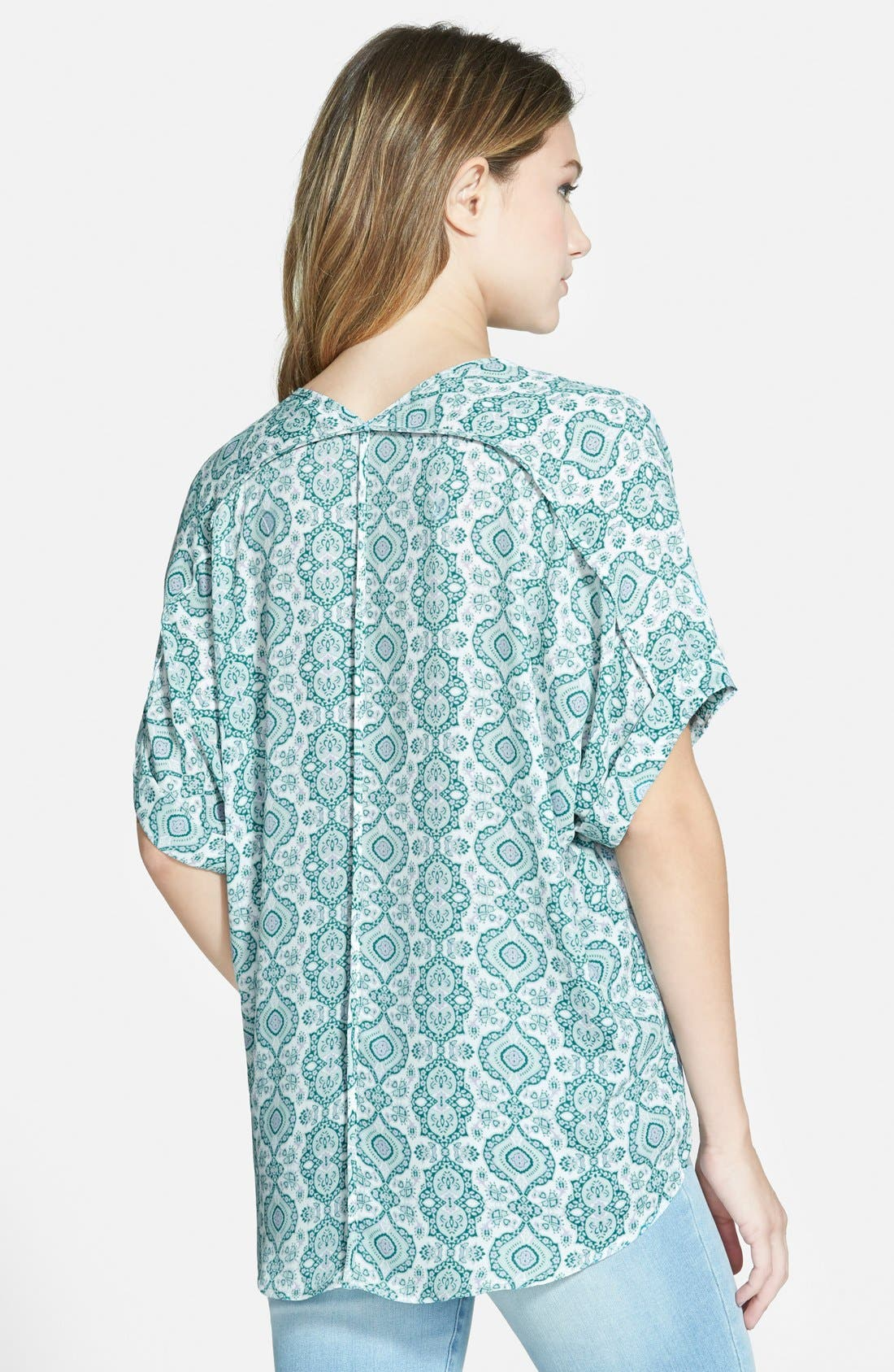 ,                             Lush Cuff Sleeve Woven Tee,                             Alternate thumbnail 114, color,                             440
