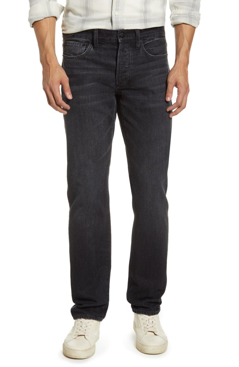 MADEWELL Slim Rigid Jeans, Main, color, WASHED BLACK