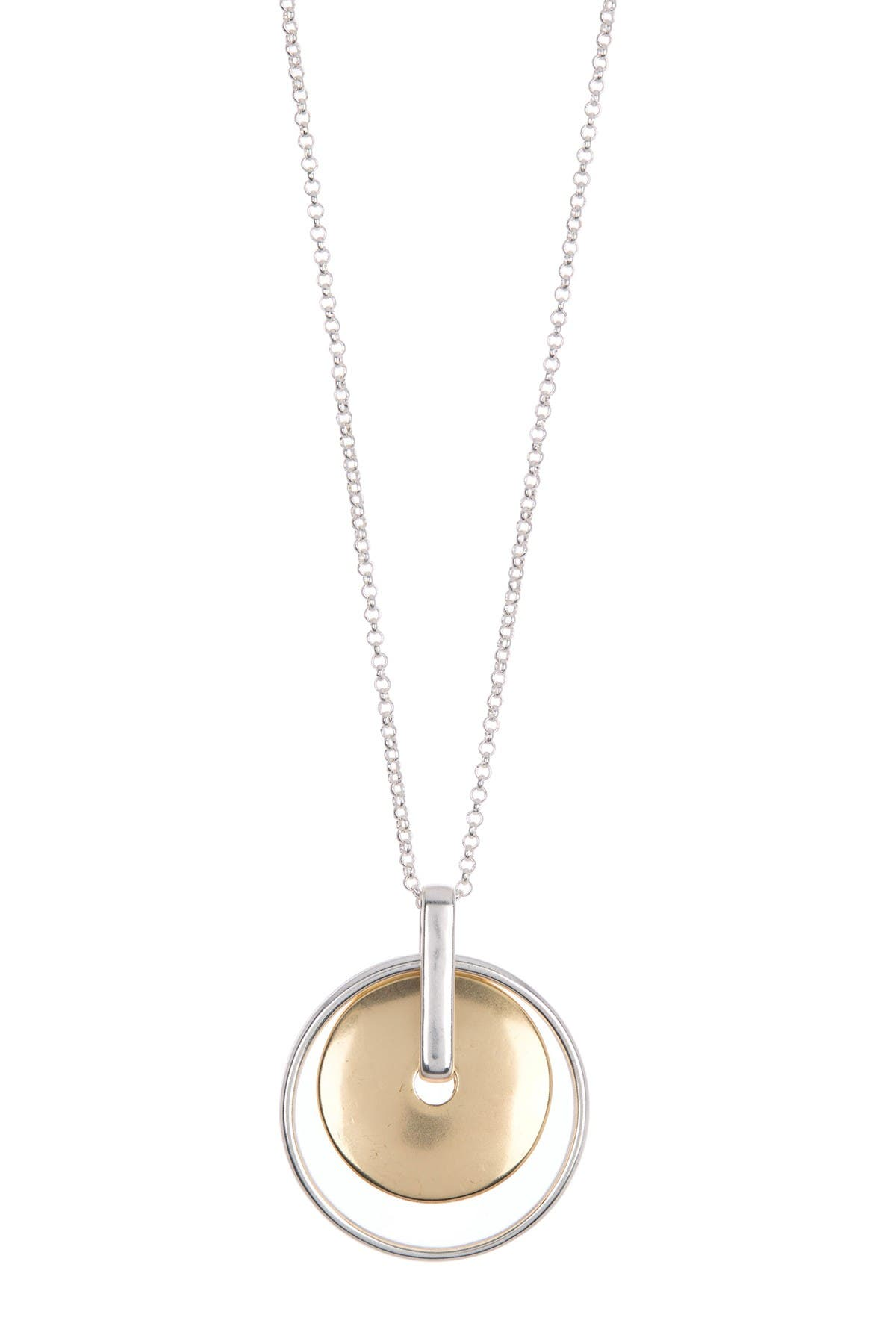 Image of Lucky Brand Two-Tone Orbital Pendant Necklace