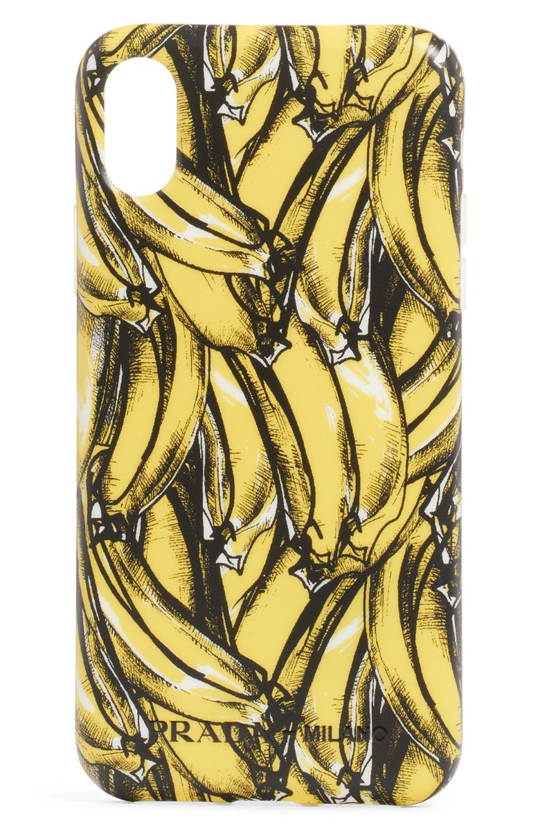 PRADA Banana iPhone X Case, Main, color, 700