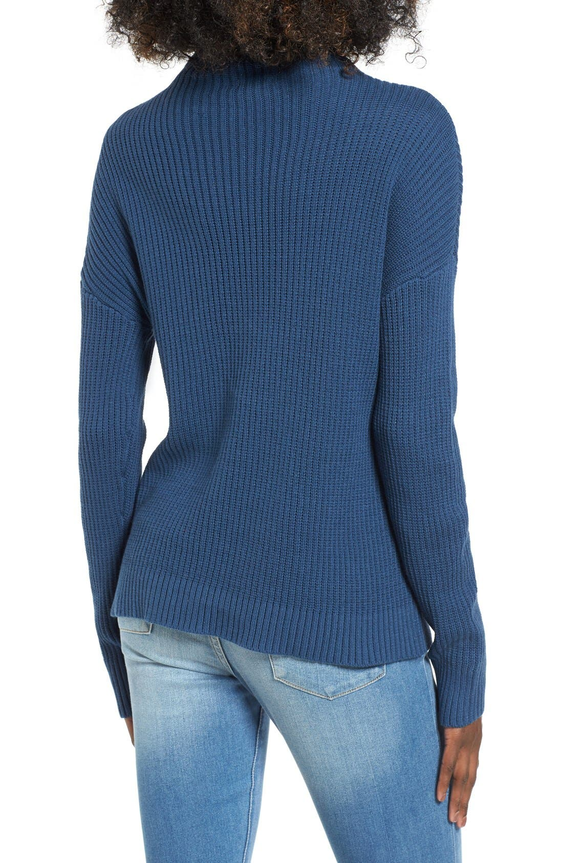,                             Mock Neck Sweater,                             Alternate thumbnail 23, color,                             401