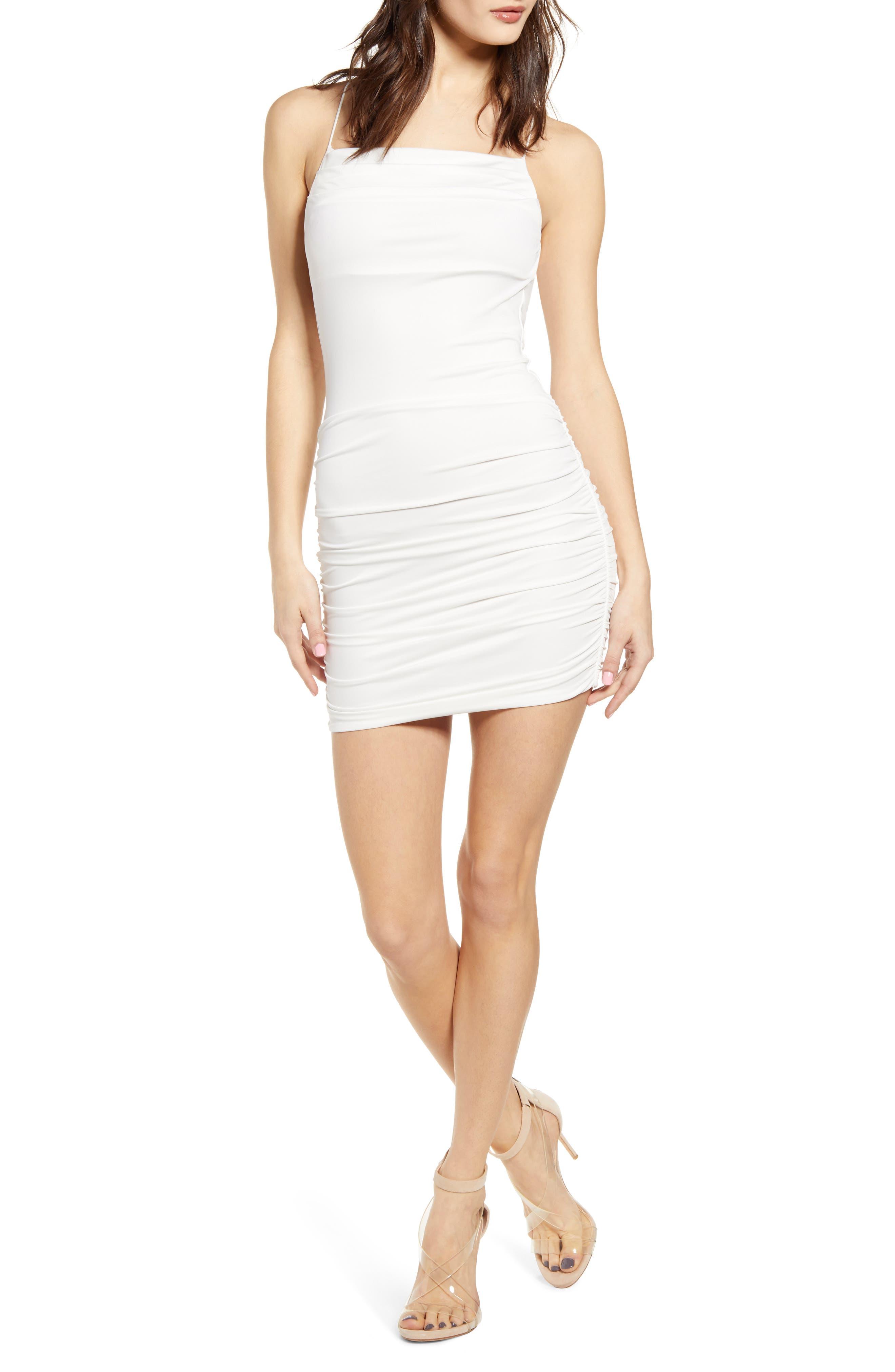 Tiger Mist Reese Body-Con Dress, White