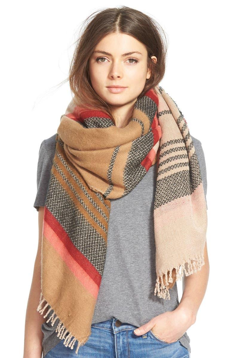 HINGE <sup>®</sup> 'Jacquard Stripe Scarf, Main, color, 235