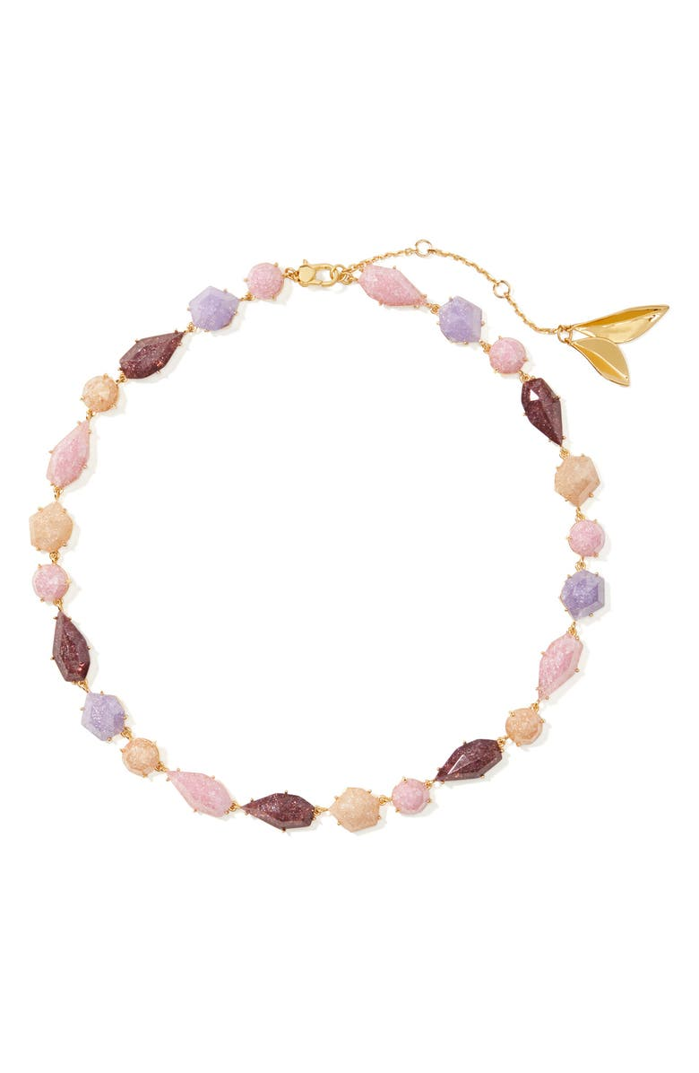 KATE SPADE NEW YORK stone collar necklace, Main, color, PINK MULTI