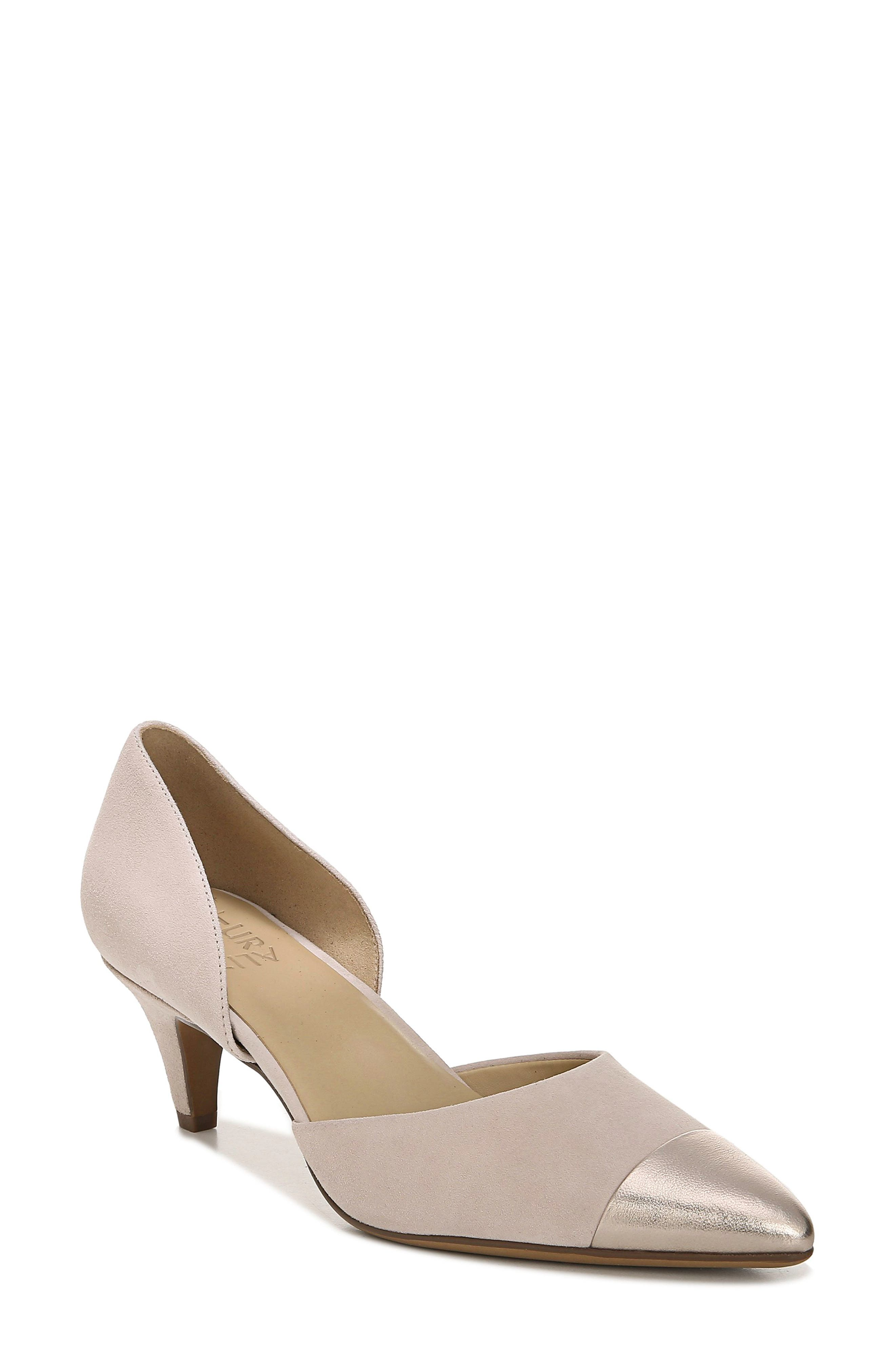 Naturalizer Barb Leather Pump, Beige