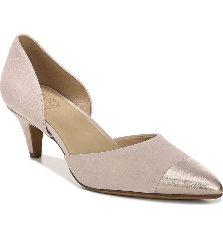NATURALIZER Barb Leather Pump, Main, color, SOFT MARBLE SUEDE