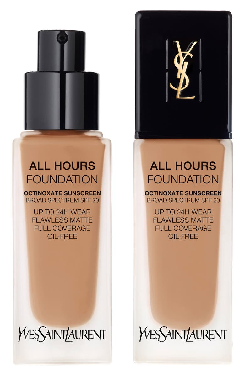 YVES SAINT LAURENT All Hours Full Coverage Matte Foundation SPF 20, Main, color, BR65 COOL COPPER