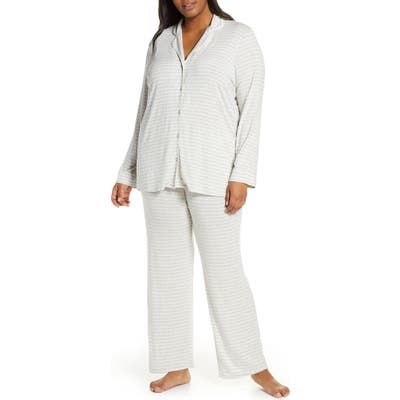 Plus Size Nordstrom Lingerie Moonlight Pajamas, Grey