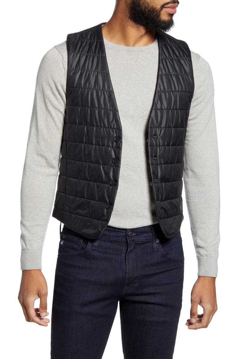 BOSS Hiwan Quilted Vest, Main, color, 001