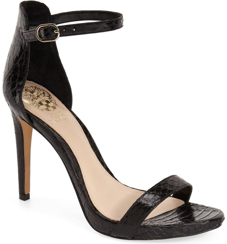 VINCE CAMUTO 'Frenchie' Ankle Strap Sandal, Main, color, 001