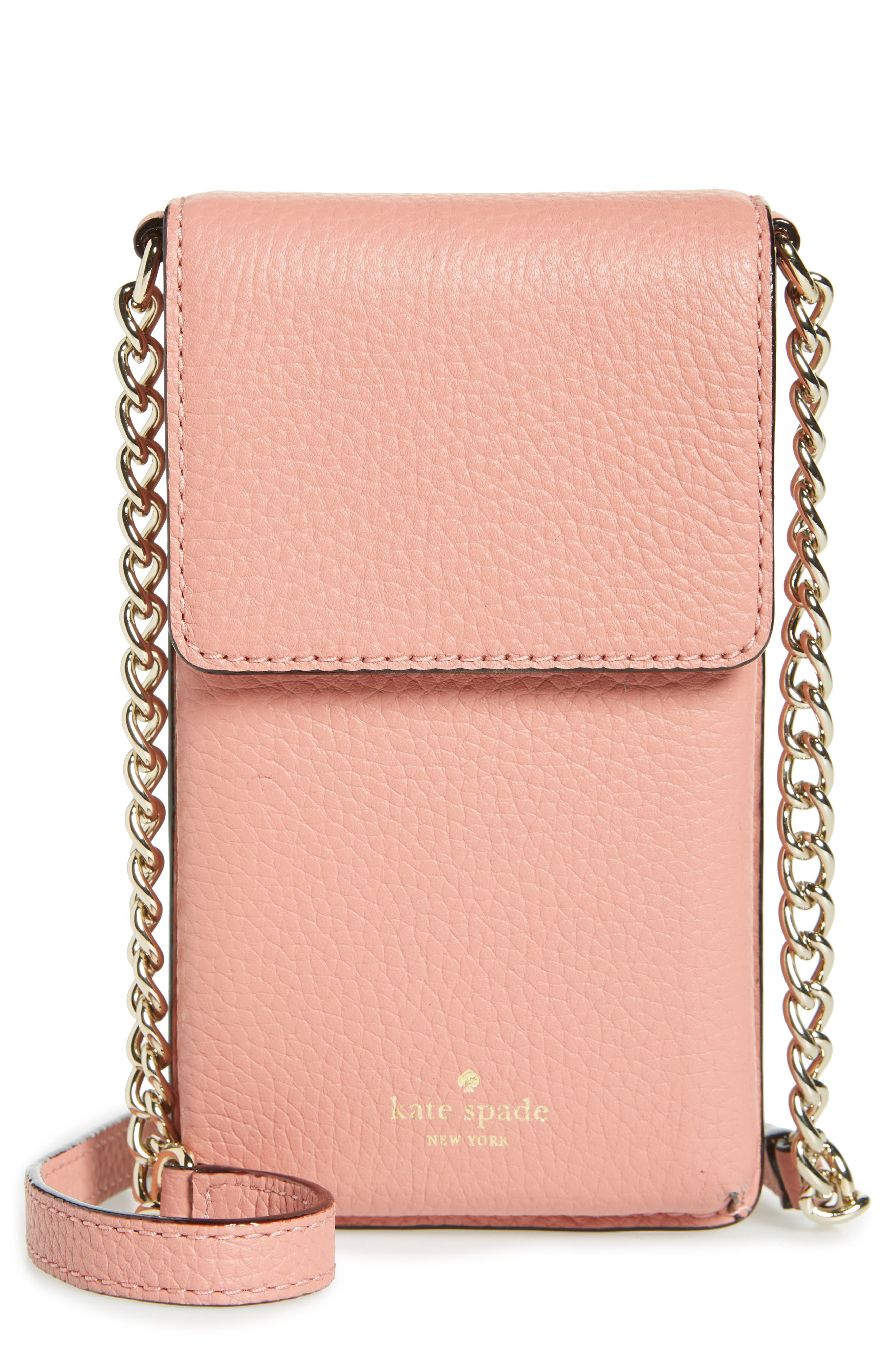 ,                             north/south leather smartphone crossbody bag,                             Main thumbnail 38, color,                             651
