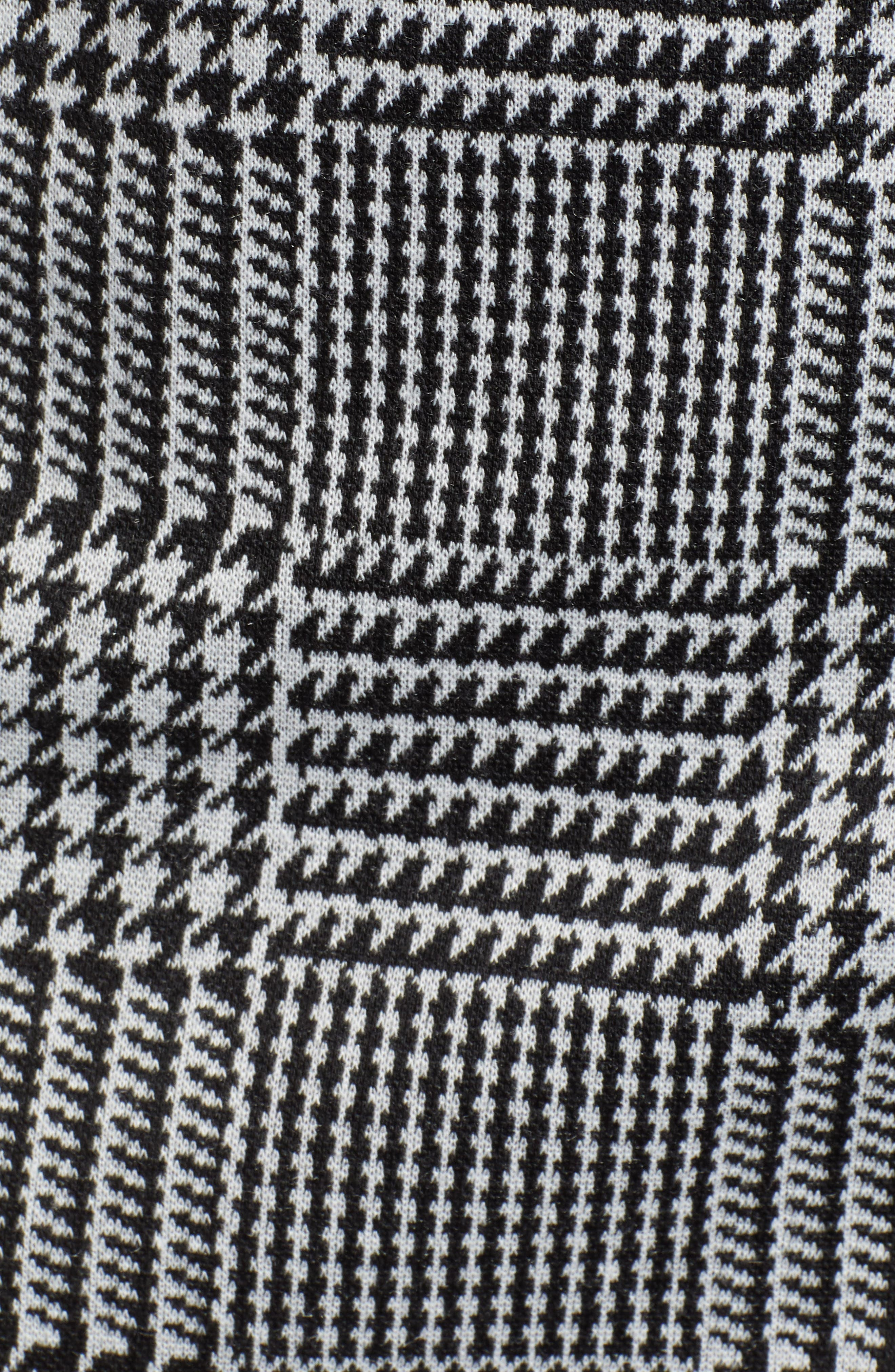 ,                             Houndstooth Check Button Wrap Skirt,                             Alternate thumbnail 5, color,                             PLAID