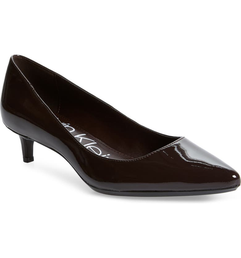 CALVIN KLEIN Gabrianna Pump, Main, color, MAHOGANY LEATHER