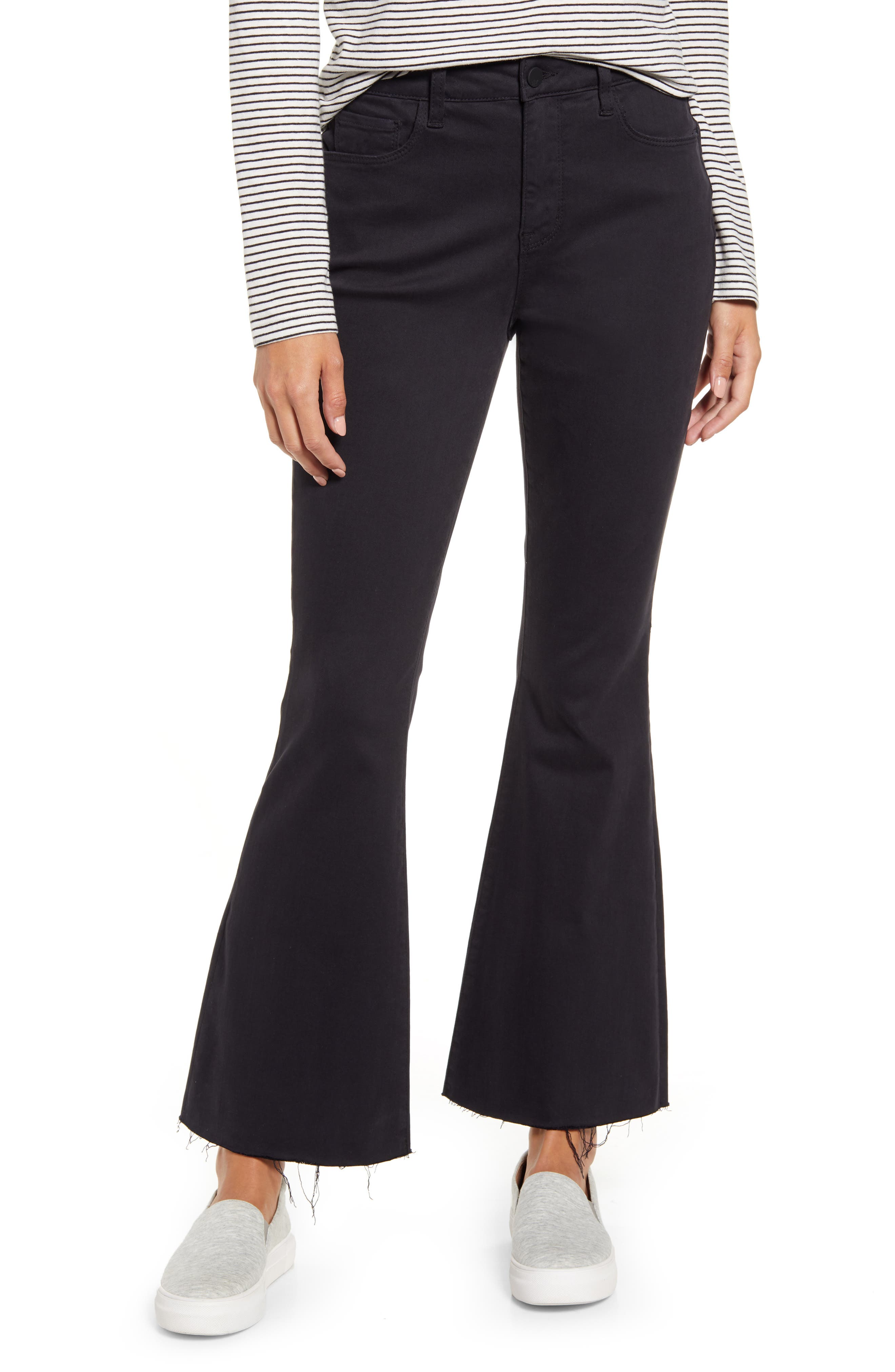 60s – 70s Pants, Jeans, Hippie, Bell Bottoms, Jumpsuits Womens Wash Lab Kick Flare Jeans $98.00 AT vintagedancer.com