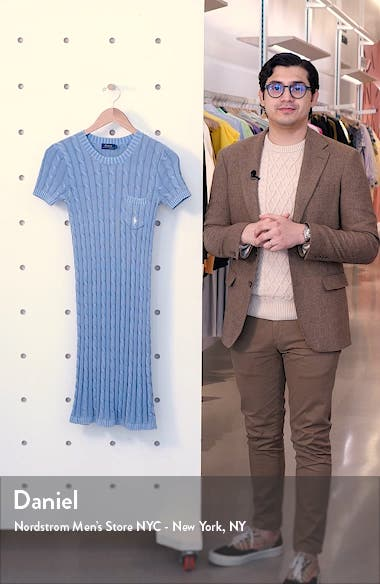Cotton Cable Sweater Dress, sales video thumbnail