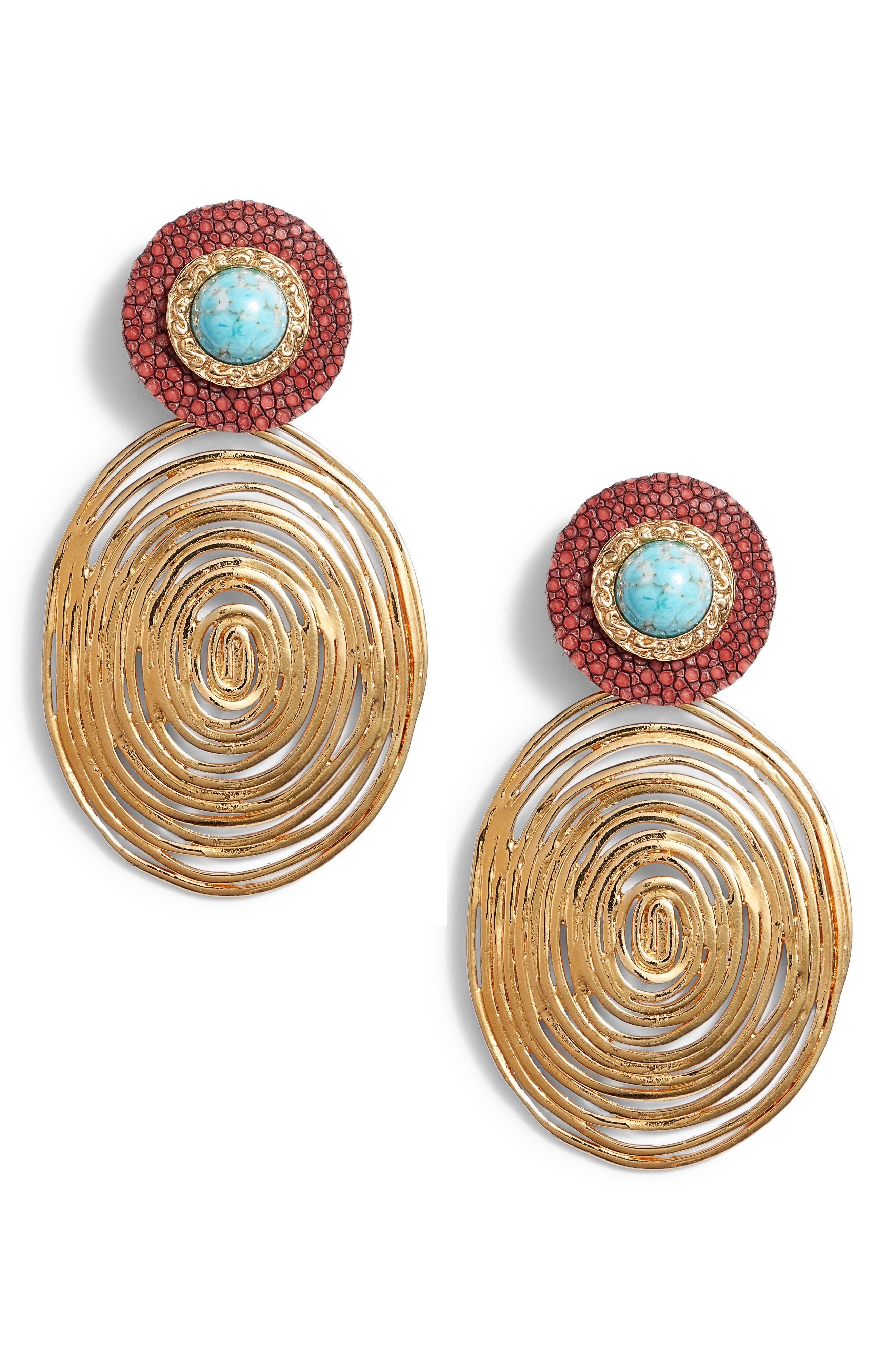 Wave Drop Earrings, Main, color, 313