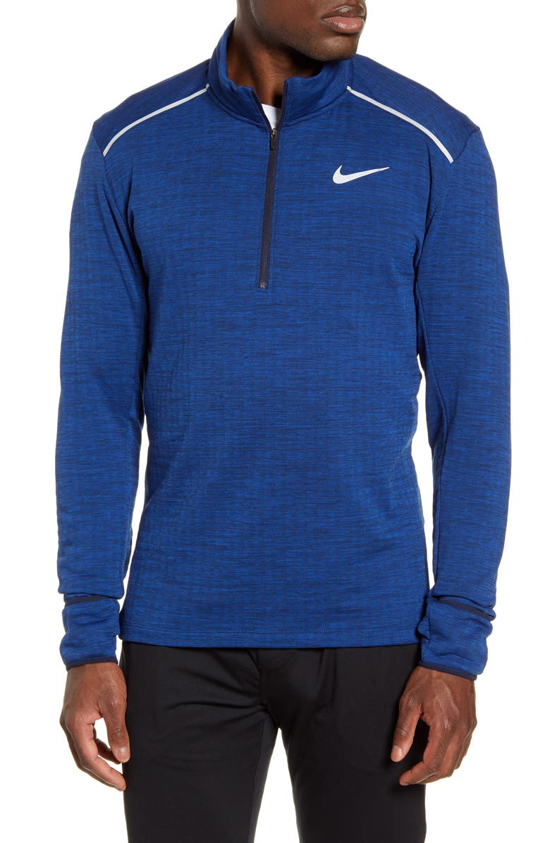 NIKE Therma Sphere Element 3.0 Half Zip Pullover, Main, color, OBSIDIAN/ HEATHER/ SILVER