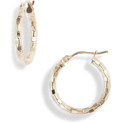 Bony Levy Hammered 14K Gold Hoops (Nordstrom Exclusive)
