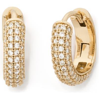 Kate Spade New York Brilliant Statements Pave Mini Huggie Hoop Earrings
