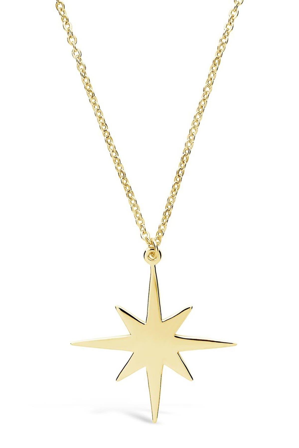 Image of Sterling Forever 14K Gold Vermeil Plated Sterling Silver Bursting Star Pendant Necklace