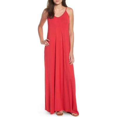 Petite Loveappella Maxi Dress, Red