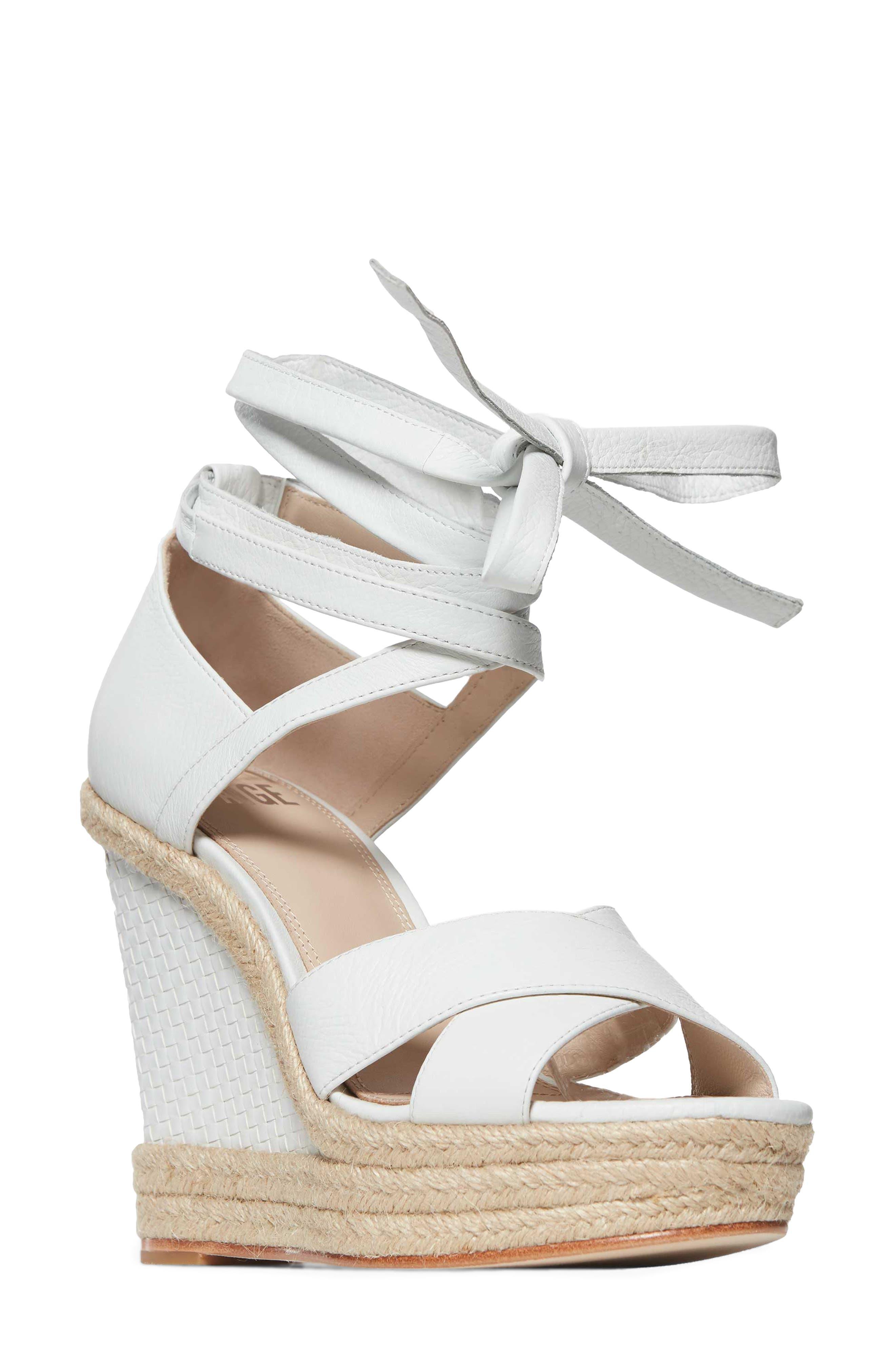 PAIGE Talia Wedge Ankle Wrap Sandal (Women)