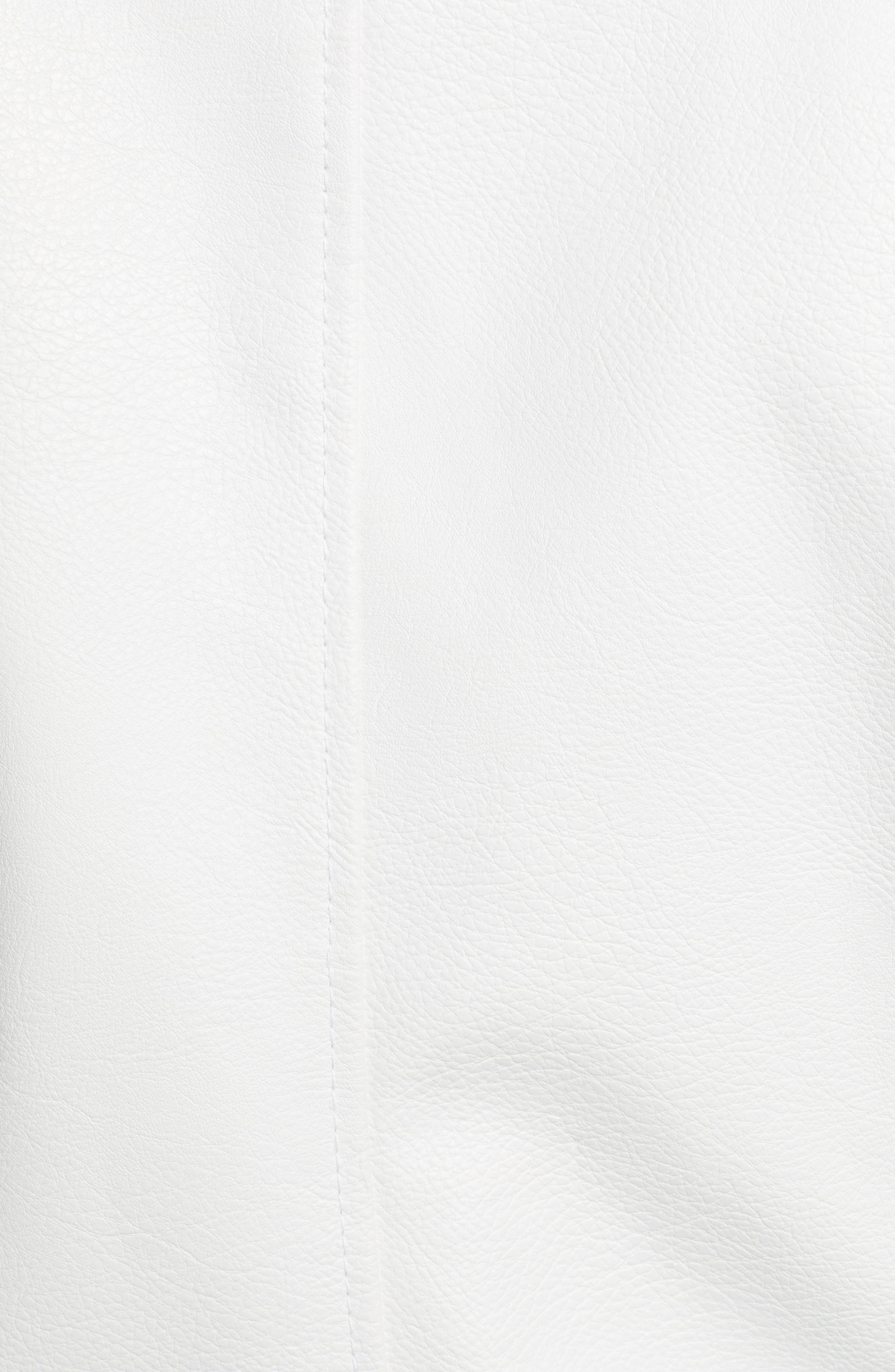 ,                             Guest List Faux Leather Moto Jacket,                             Alternate thumbnail 6, color,                             OPTIC WHITE