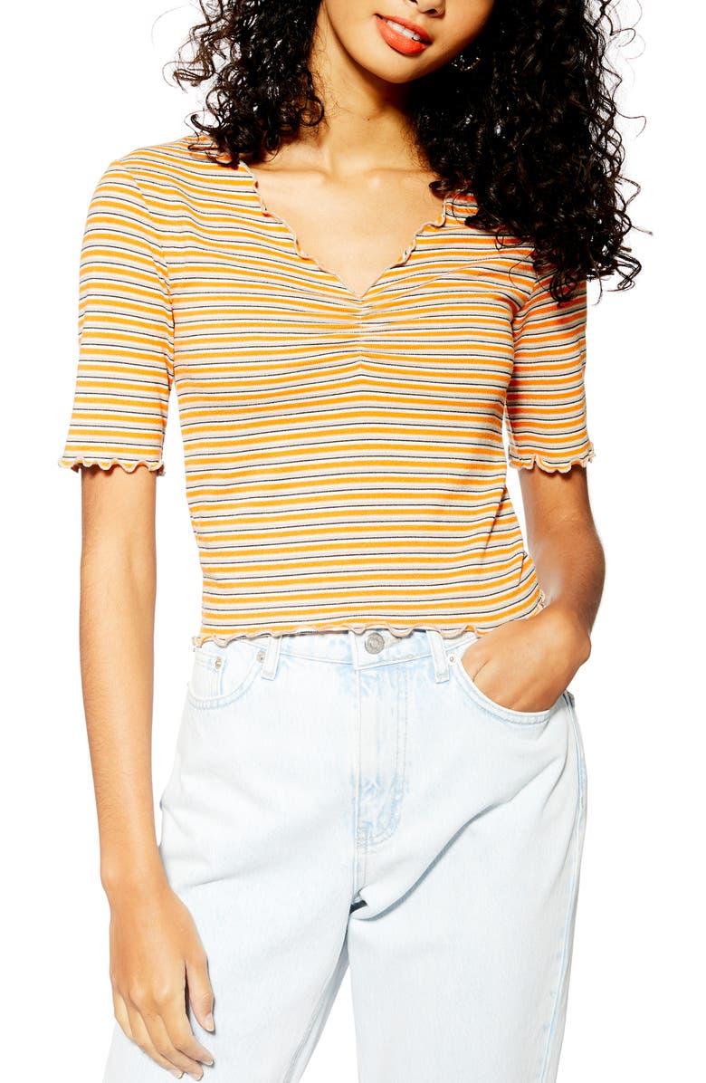 TOPSHOP Stripe Tee, Main, color, 800