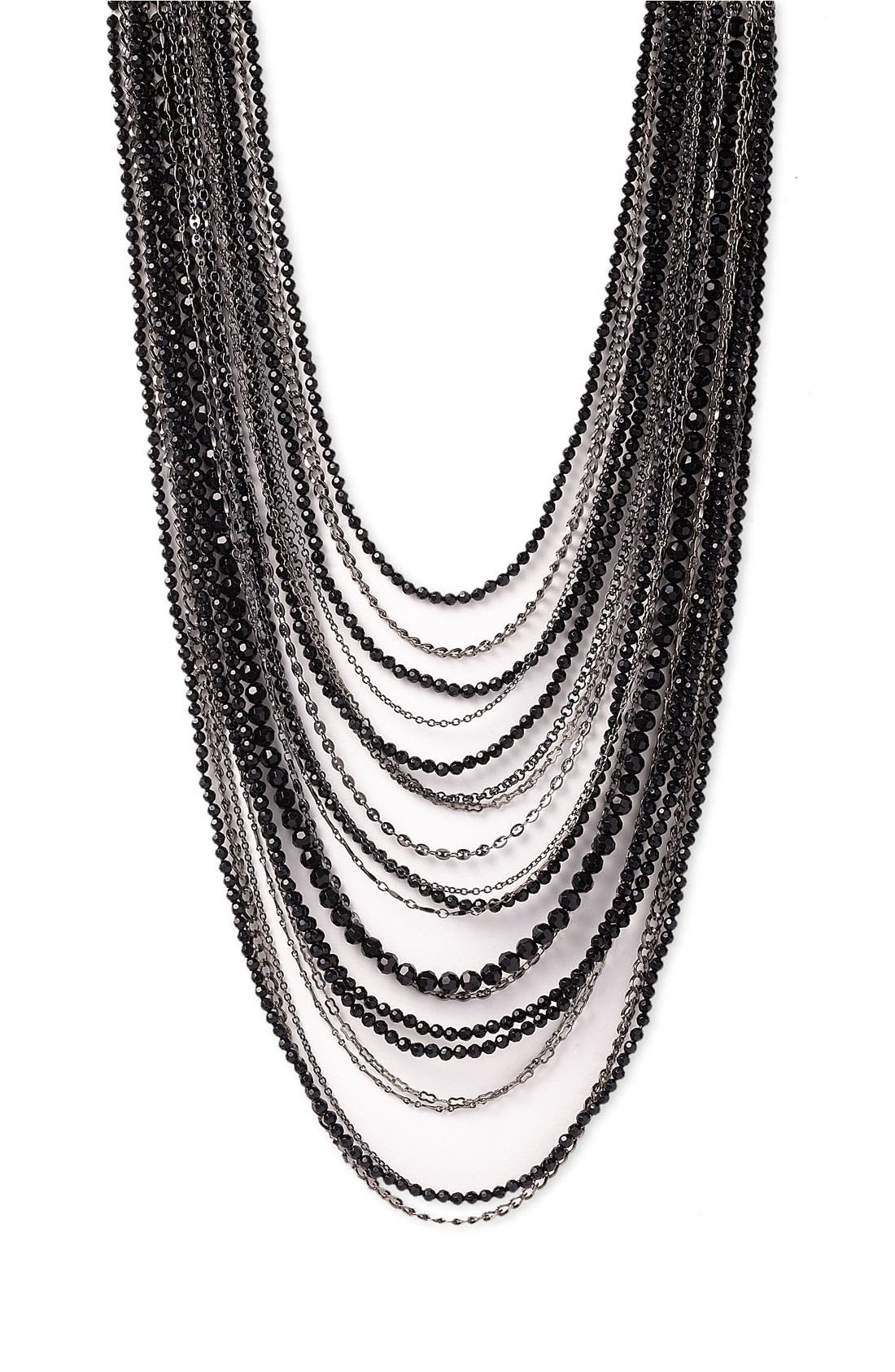 ,                             Beaded Long Multistrand Necklace,                             Main thumbnail 1, color,                             001