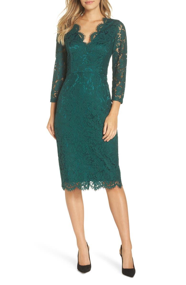 HARPER ROSE Lace Sheath Dress, Main, color, 310