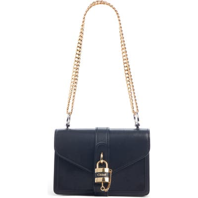 Chloe Aby Leather Shoulder Bag - Black