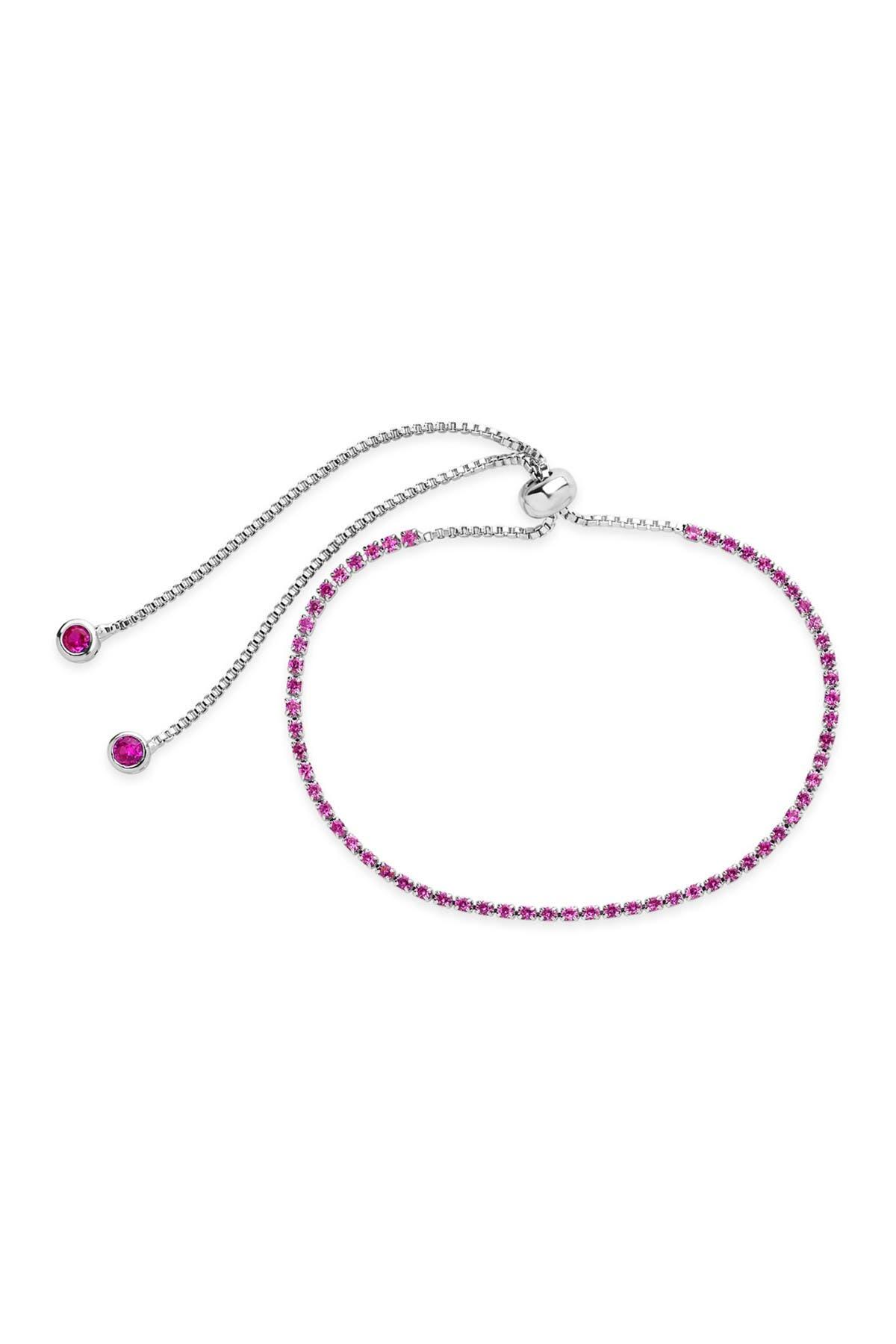 Sterling Forever Rose CZ Slider Bracelet
