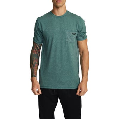 Rvca Sport Vent Pocket Performance T-Shirt, Green