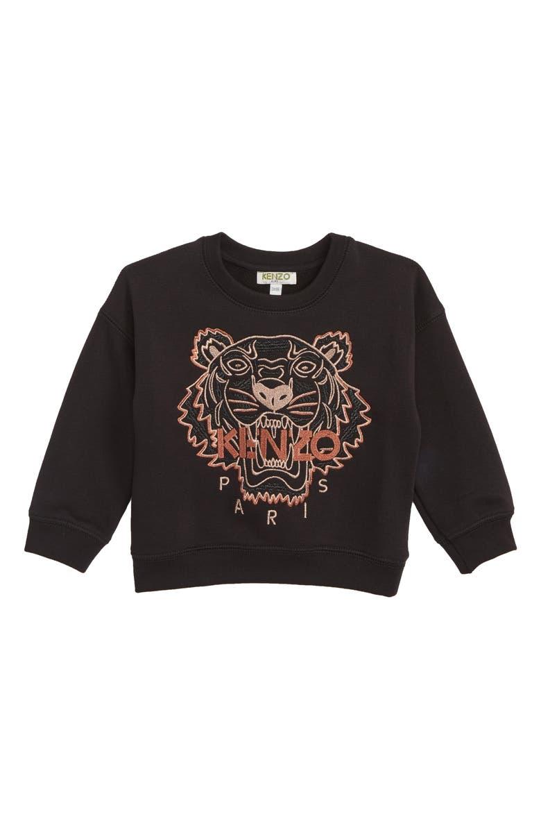 KENZO Tiger Embroidered Sweatshirt Toddler Girls Little Girls Big Girls