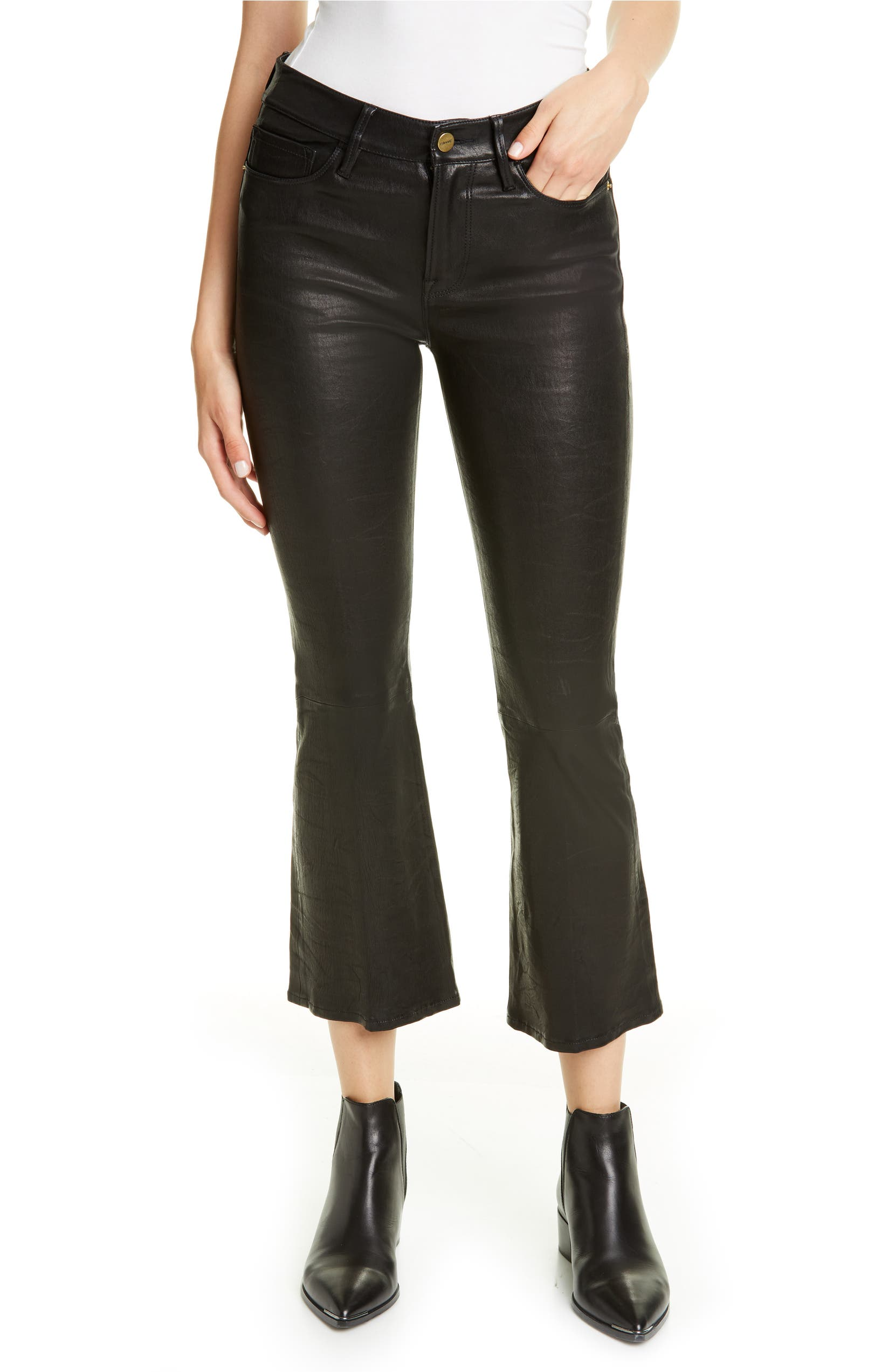0a99acc8dc FRAME 'Le Skinny' Lambskin Leather Pants | Nordstrom