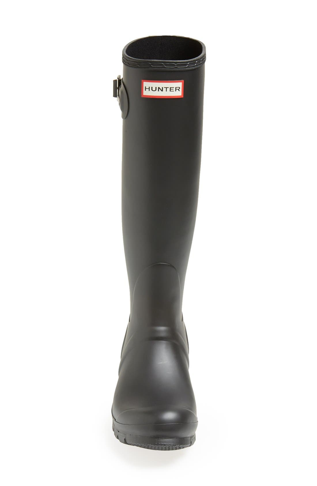 ,                             Original Tall Waterproof Rain Boot,                             Alternate thumbnail 3, color,                             BLACK MATTE
