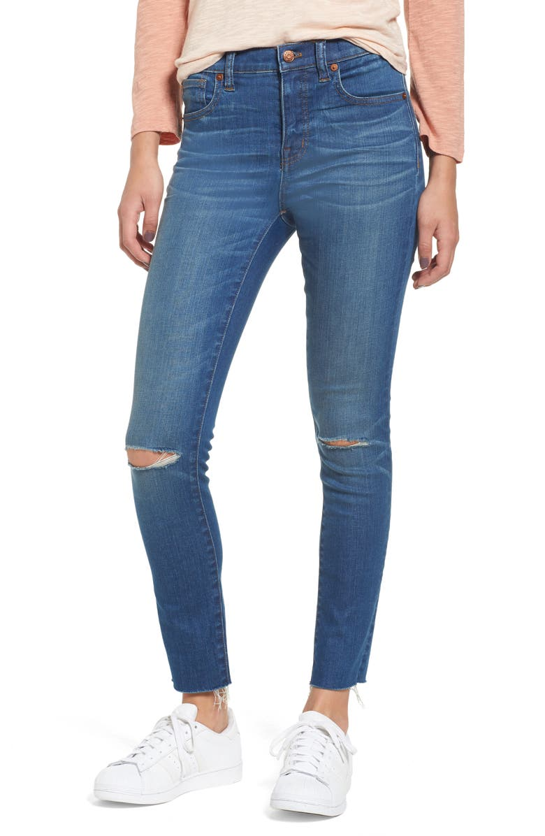 MADEWELL 10-Inch High Rise Skinny Jeans, Main, color, 409