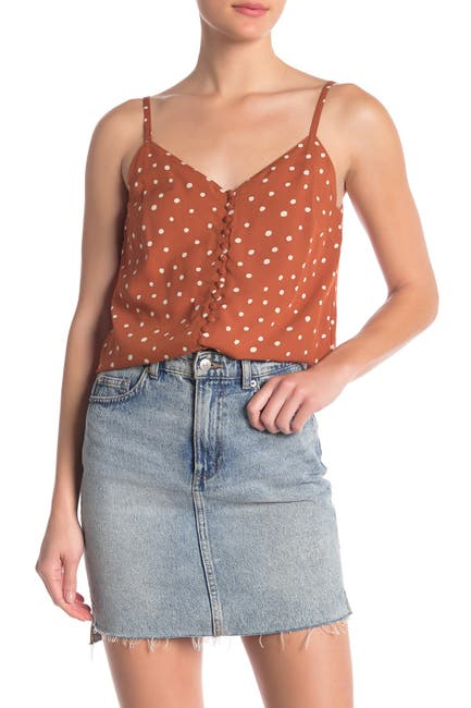 Image of Madewell Button Front Camisole
