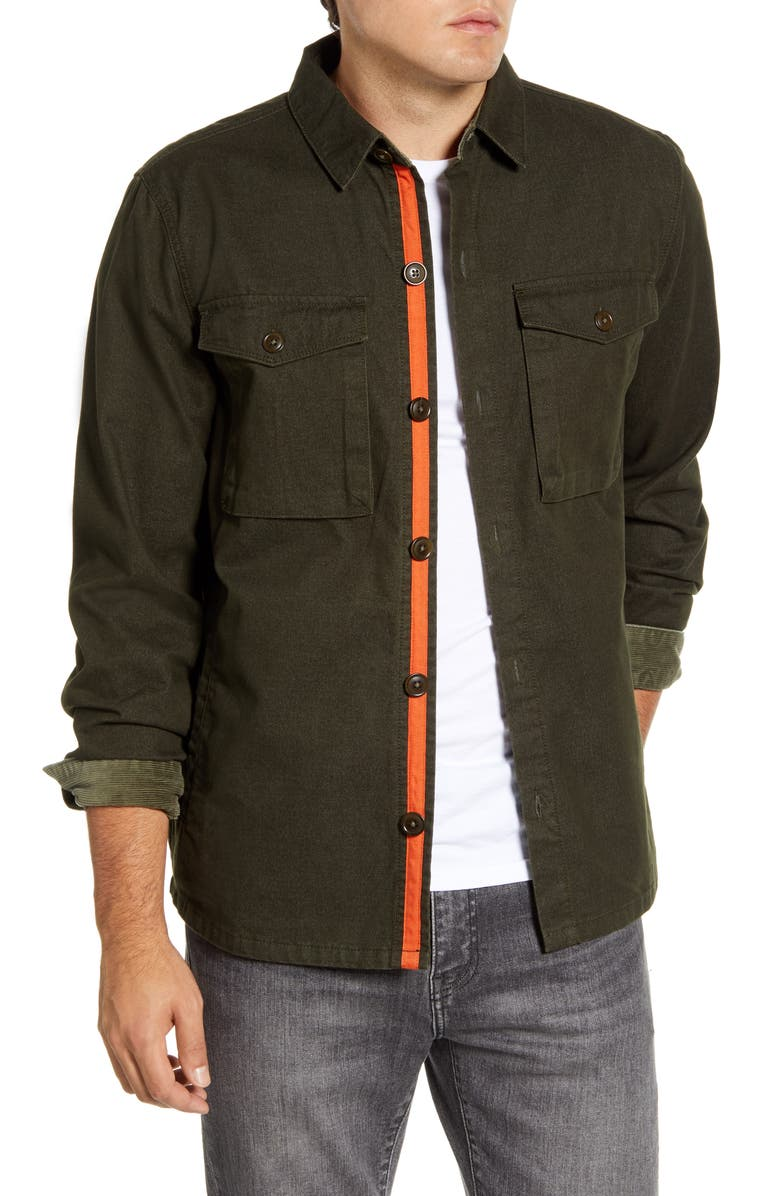 BARBOUR Relaxed Fit Thermo Overshirt, Main, color, DARK FOREST